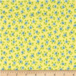Calico Collection Floral Yellow/Blue/Green