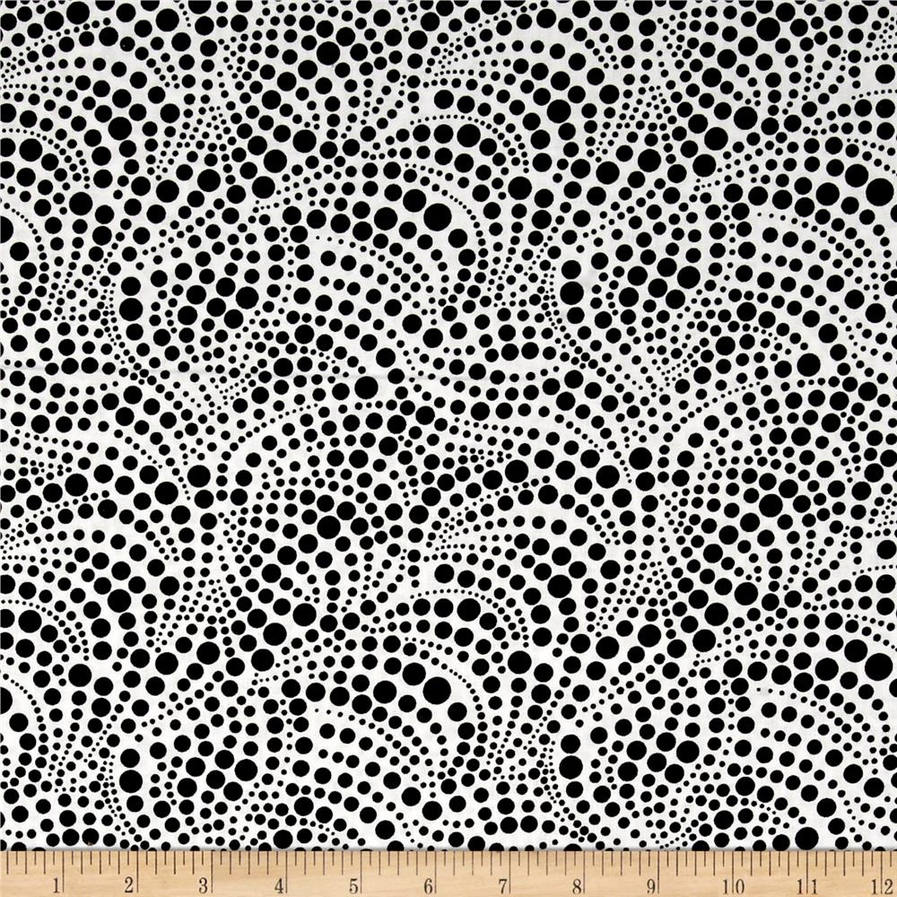 Contempo Anything Goes Swirling Dots White/Black