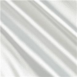 Stretch Charmeuse Satin Linen White