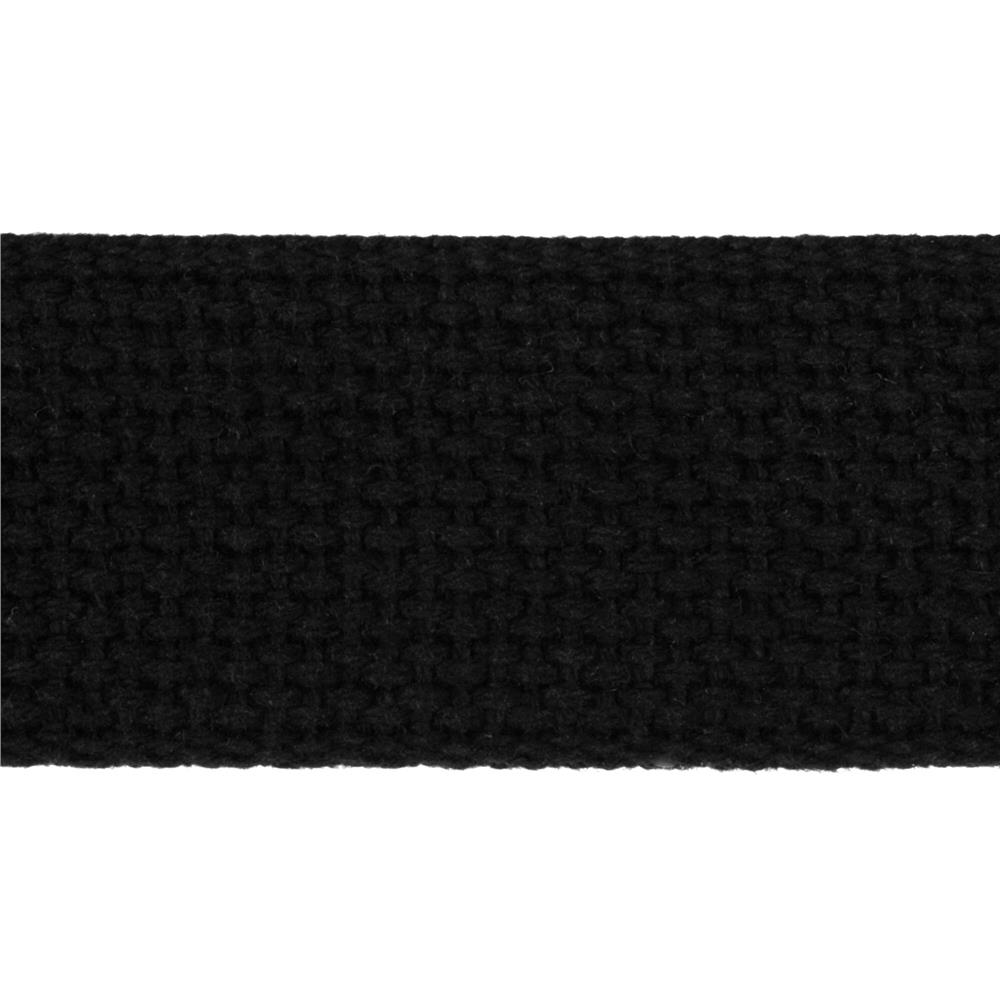 1-1/2'' Cotton Webbing Black - By the Yard