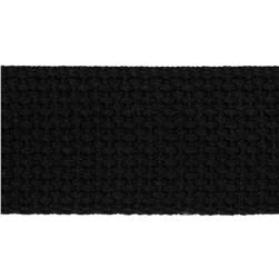 1-1/2'' Cotton Webbing Black