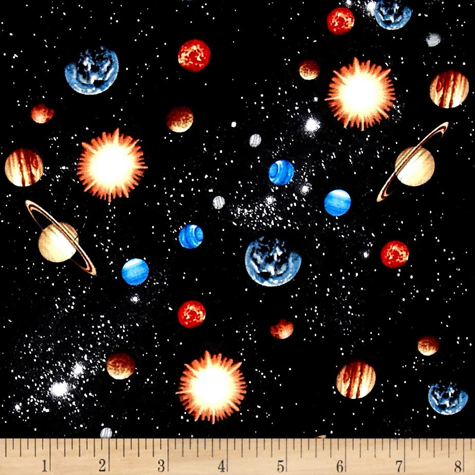 Cosmic Space Small Planets Black