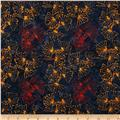 Lonni Rossi Batiks Gingko Leaves Midnight