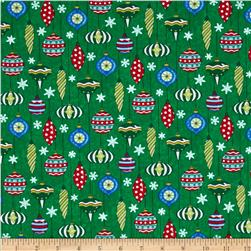 Moda Ho! Ho! Ho! Happy Hanging Bulbs Christmas Tree Green