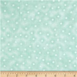 Rebecca's Rose Small Dots Aqua/White