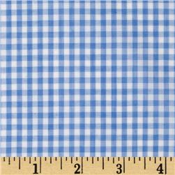Woven 1/8'' Gingham Blue Fabric