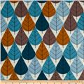 Birch Organic Interlock Knit Charley Harper Octoberama Blue