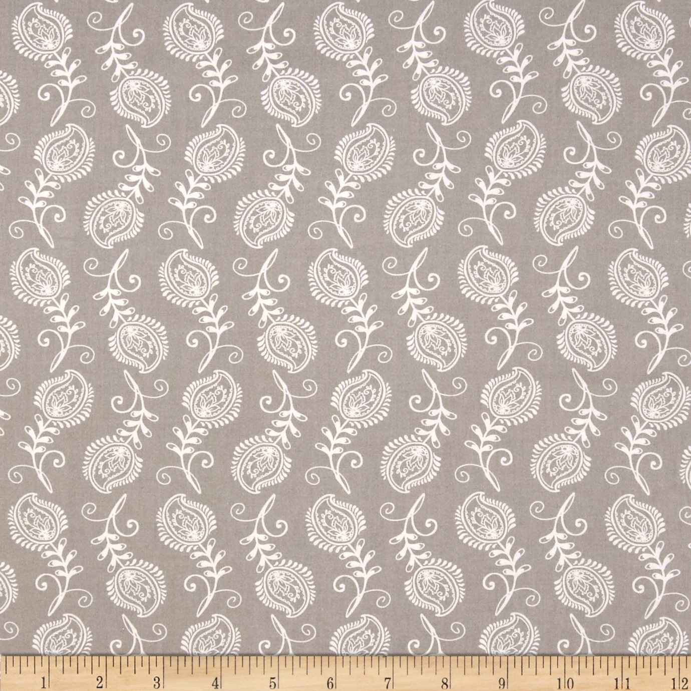 Contempo Feathers Grey/White Fabric by Santee in USA