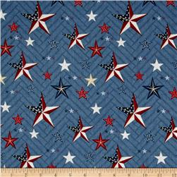 Heritage Large Stars Blue