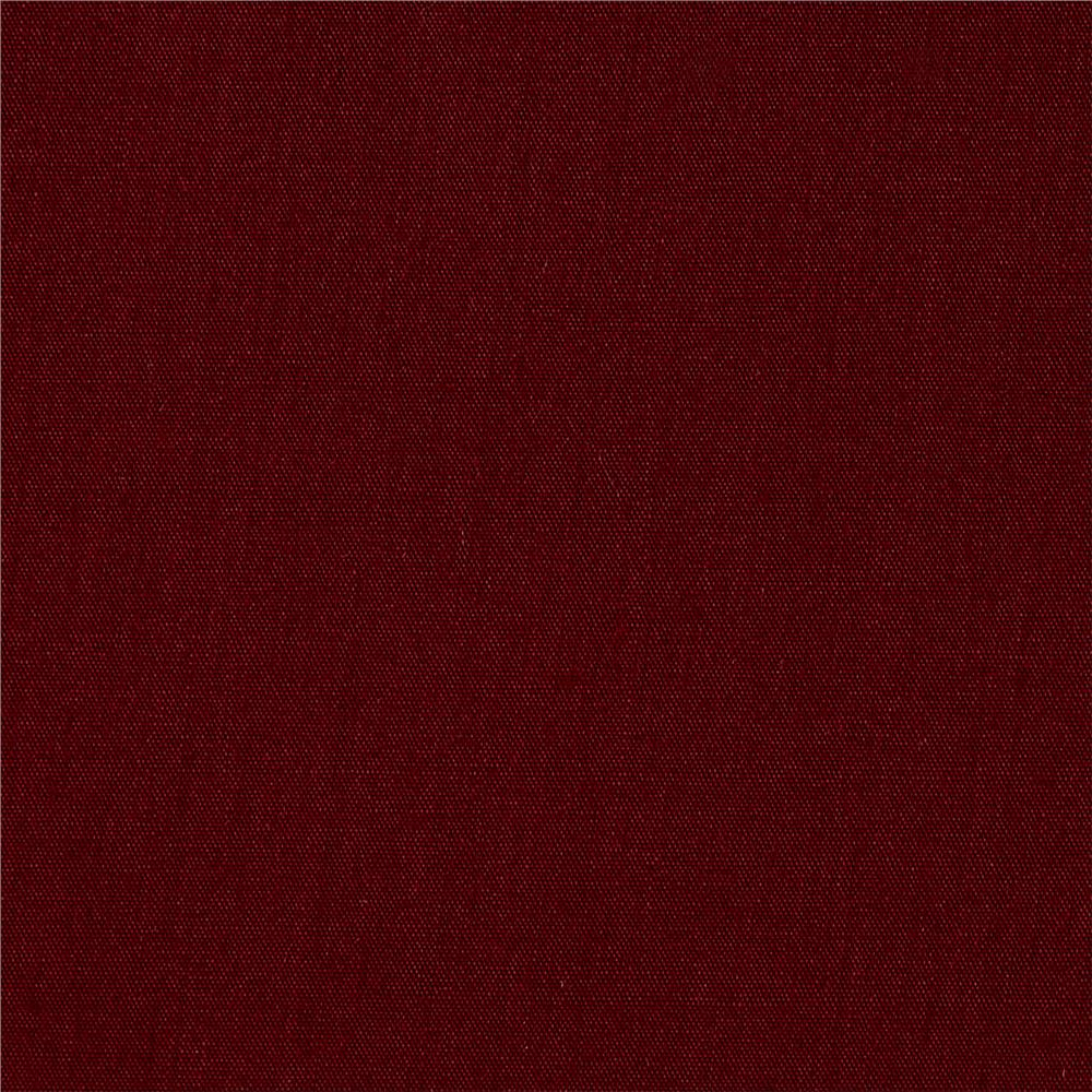 60'' Poly Cotton Broadcloth Burgundy Fabric By The Yard