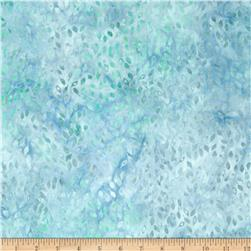 Batavian Batiks Falling Leaves Light Aqua/Blue