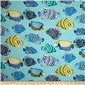 P Kaufmann Indoor/Outdoor Fish Tale Caribbean Blue