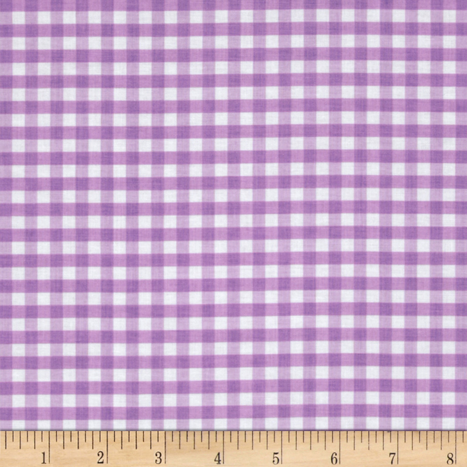 Riley Blake Medium Gingham Lavender Fabric