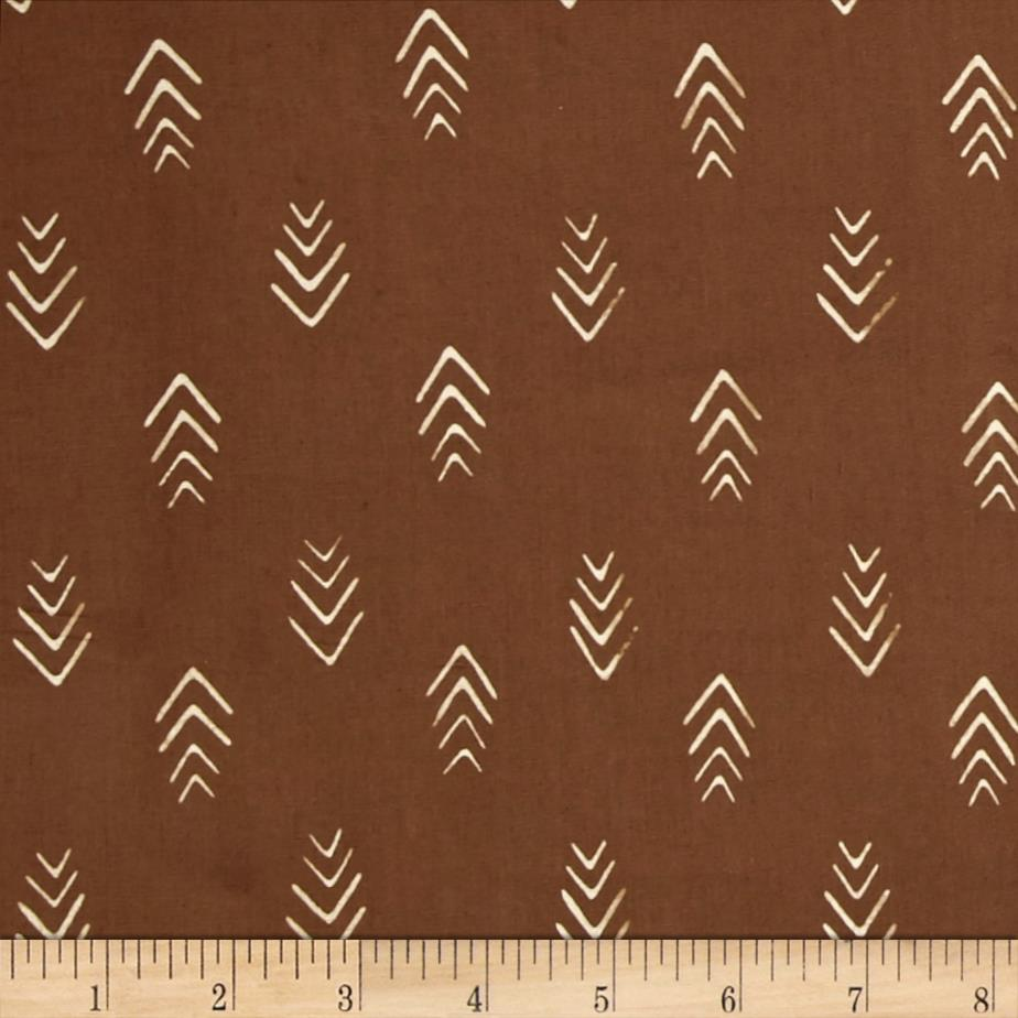 Indah Batiks Herringbone Coffee