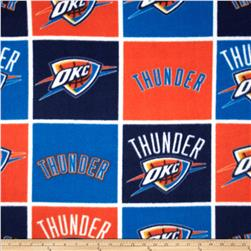NBA Fleece Oklahoma City Thunder Block Blue Fabric