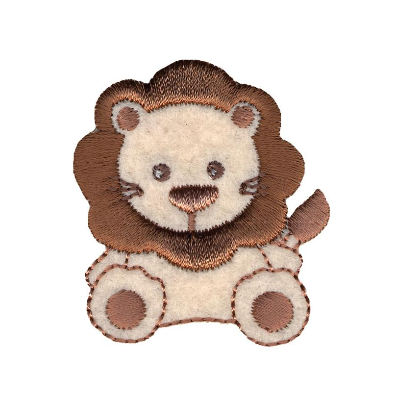 Simplicity Especially Baby Iron On Applique Tan & Brown Lion