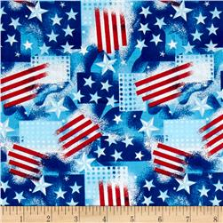 Patriotic Celebration Stars Stripes Blue