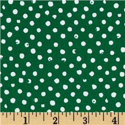 Confetti Dot Emerald Fabric