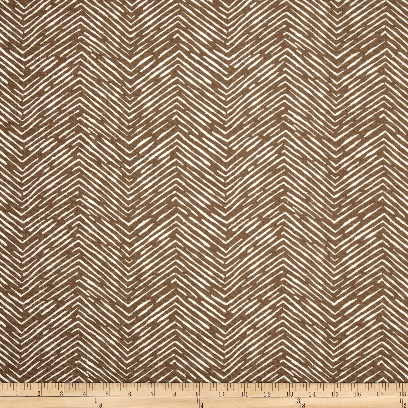 Premier Prints Cameron Drew Italian Brown Fabric