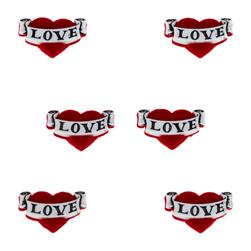 Dress It Up Embellishment Buttons  Love Heart