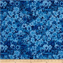 Walking on Sunshine Tonal Floral Blue
