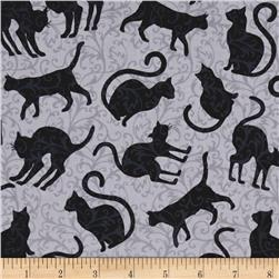 Spellbound Cat Silhouettes Grey