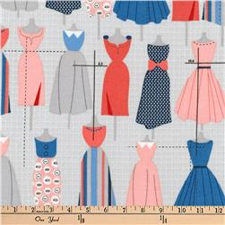 Kaufman Sew Dressed Up Dresses Navy