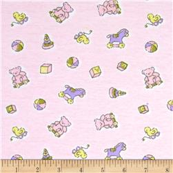Cotton Interlock Knit Pink Fabric
