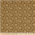 "108"" King Quilt Backs Floral Gold"