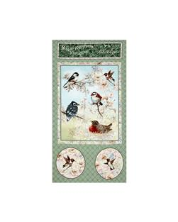 Garden Melodies Songbird 24 In. Panel Sage