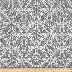 Riley Blake Medium Damask White/Grey Fabric