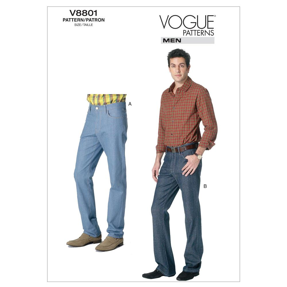 Vogue Men's Jeans Pattern V8801 Size NVV