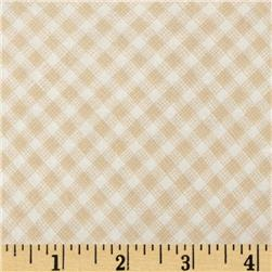 Timeless Treasures Sketch Gingham Tan
