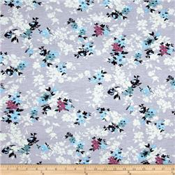 Jersey Knit Floral Lilac