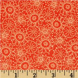 Wild Flower Flower Toile Orange
