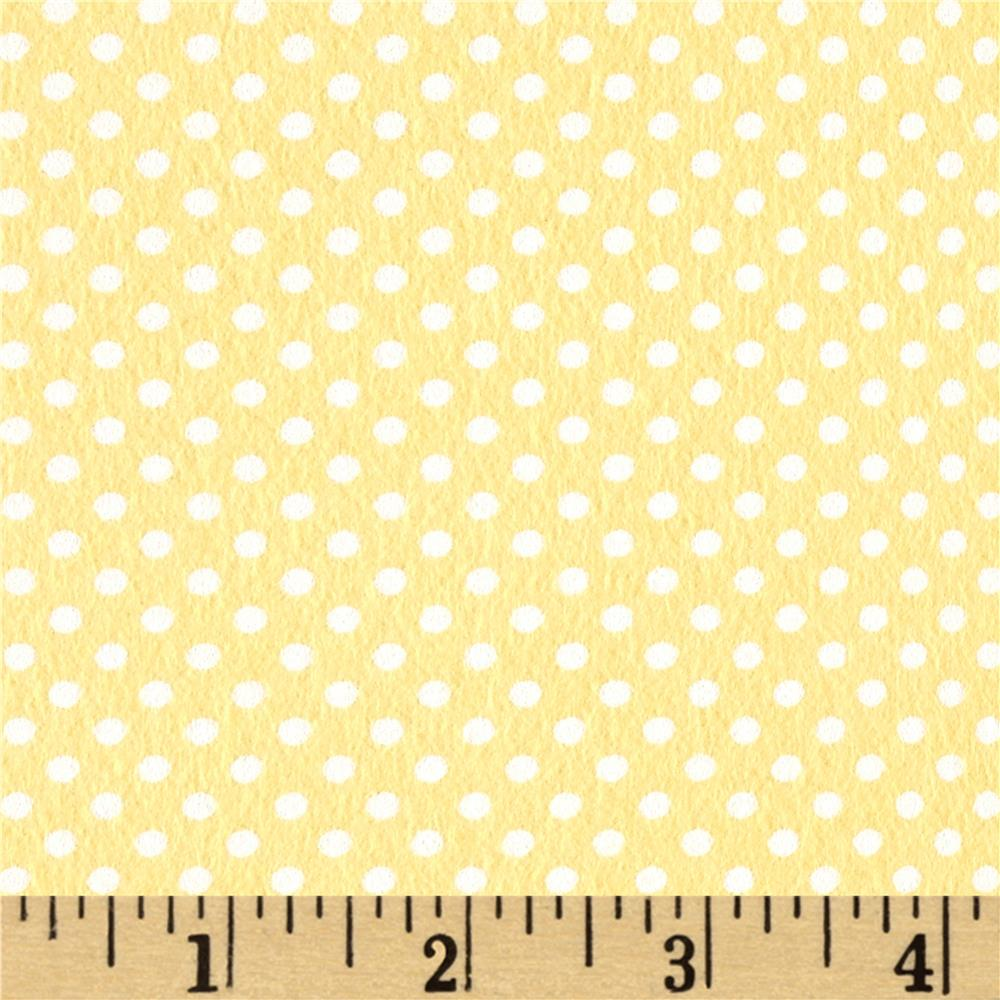 Moda Sweet Baby Flannel Tiny Dot Sunshine