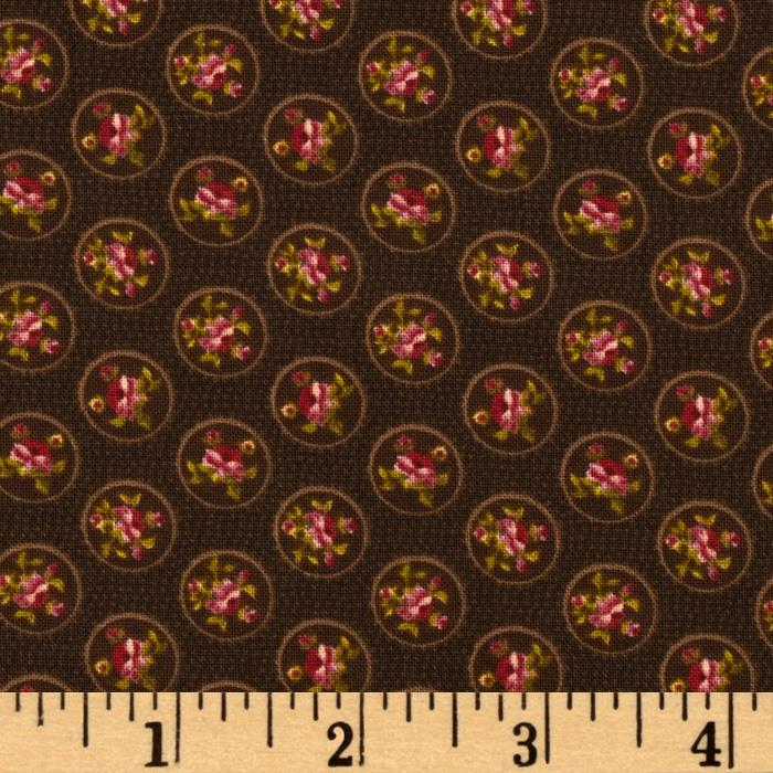 Elm Creek Quilts Floral Dots Brown