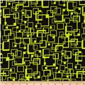 Hannah Abstract Squares Lime/Black