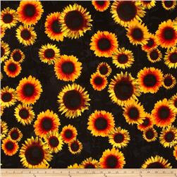 ITY Jersey Knit Floral Yellow/Black