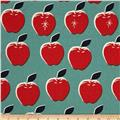 Cotton & Steel Picnic Canvas Apples Red/Blue