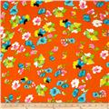 ITY Knit Floral Orange