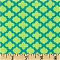Monaco Small Medallion Teal