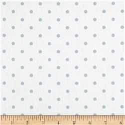 Premier Prints Mini Dots Twill White/Weathered Blue
