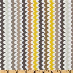 Michael Miller Citron Gray Spa Scallop Citron Fabric