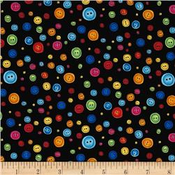 Loralie Designs Button Dots Black