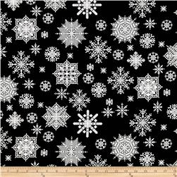 Winter Essentials II Snowflake Black Fabric
