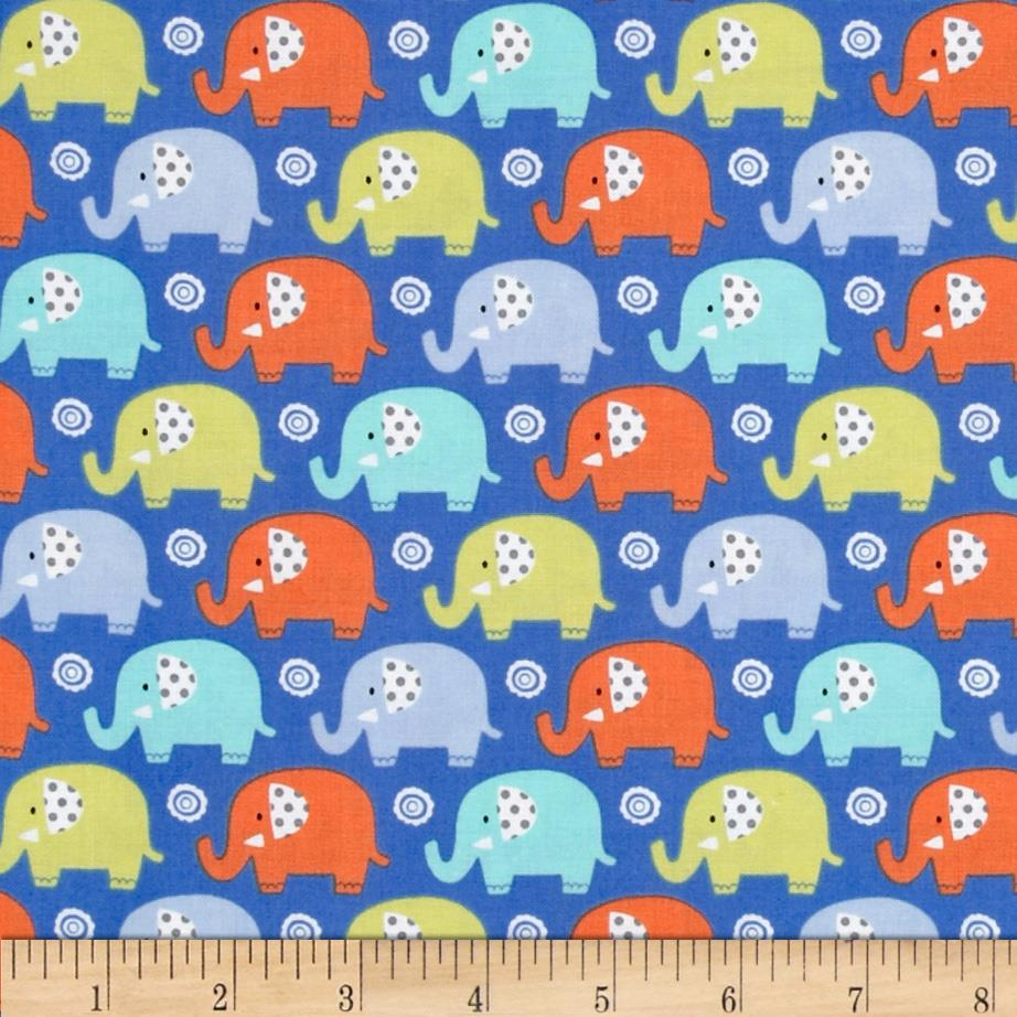 Michael miller zoo littles boy things mini elephants boy for Little boy fabric