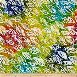 Indian Batik Cascades Leaf Bright Multi