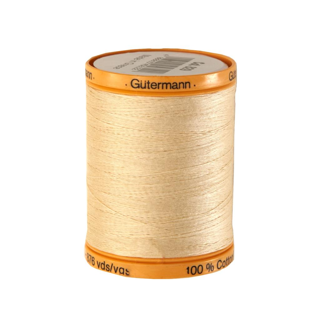 Gutermann Natural Cotton Thread 800m/875yds Cream