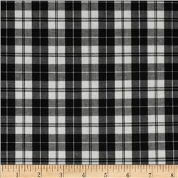 Stretch Yarn Dyed Shirting Plaid White/Black